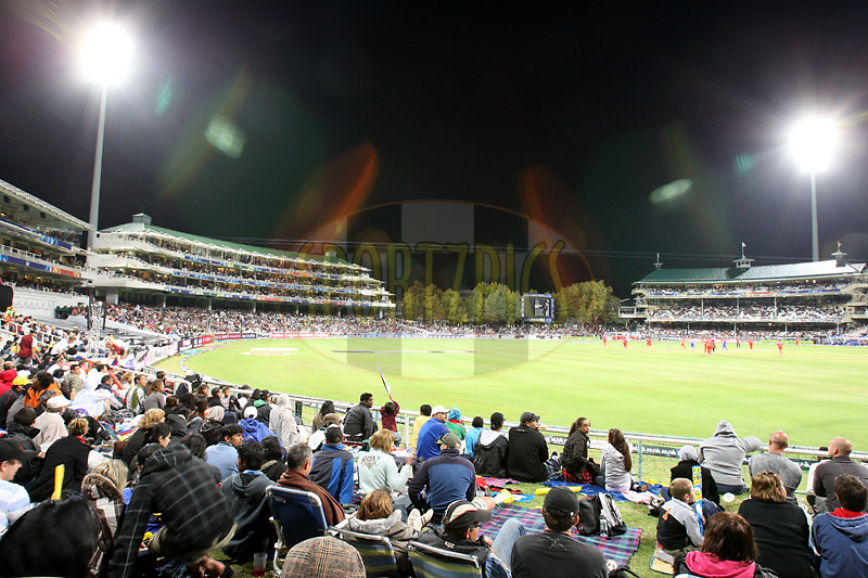 CAPE TOWN, SOUTH AFRICA - 18 April 2009,  during the second match of the inaugural double header of the (Indian Premier League) IPL Season 2 between Bangalore Royal Challengers and the Rajasthan Royals held at Sahara Park Newlands in Cape Town, South Africa..