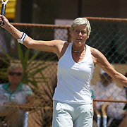 Ellie Krocke, Nederlands, winning  the 65 Womens Singles Final during the 2009 ITF Super-Seniors World Team and Individual Championships at Perth, Western Australia, between 2-15th November, 2009