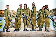 Israeli women serving in the IDF on a field week. Photography by Debbie Zimelman
