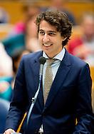 Groenlinks fractievoozitter Jesse Klaver tijdens de eerste dag van de Algemene Beschouwingen in de Tweede Kamer.