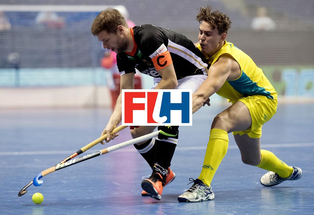 BERLIN - Indoor Hockey World Cup<br /> Men: Germany - Australia<br /> foto: Martin H&auml;ner.<br /> WORLDSPORTPICS COPYRIGHT FRANK UIJLENBROEK