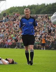 Cavan's Joe McQuillan referee at McHale Park on saturday last.<br /> Pic Conor McKeown