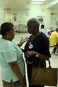 Una Clarke at The St.Gabriels' Episcopal/Angelican Church's Senior Center campaigning for Public Advocate Bill De Blasio in the Lefferts Garden section of Brooklyn on July 22, 2009 in Brooklyn, New York