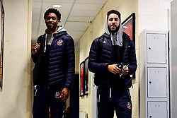 Levi Bradley of Bristol Flyers and Chris Taylor of Bristol Flyers arrives at SGS Wise Arena prior to kick off - Photo mandatory by-line: Ryan Hiscott/JMP - 15/11/2019 - BASKETBALL - SGS Wise Arena - Bristol, England - Bristol Flyers v London City Royals - British Basketball League Cup