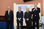 DESCRIZIONE : Roma Basket Day Hall of Fame 2013<br /> GIOCATORE : Gaetano Laguardia Giovanni Petrucci Fabbricini Giovanni Malago'<br /> SQUADRA : FIP Federazione Italiana Pallacanestro <br /> EVENTO : Basket Day Hall of Fame 2013<br /> GARA : Roma Basket Day Hall of Fame 2013<br /> DATA : 09/12/2013<br /> CATEGORIA : Premiazione<br /> SPORT : Pallacanestro <br /> AUTORE : Agenzia Ciamillo-Castoria/GiulioCiamillo