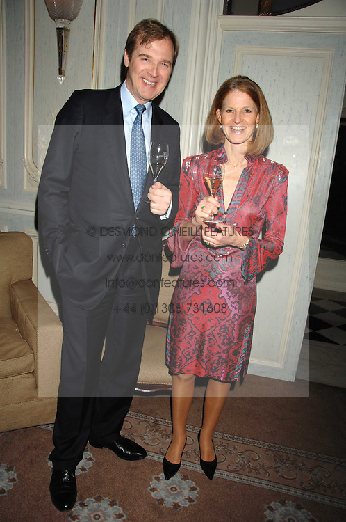 MR & MRS ROBERT BROOKS at a dinner to celebrate the launch of the Dom Ruinart 1998 vinatage champage at Claridge's, Brook Street, London W1 on 23rd April 2008.<br /><br />NON EXCLUSIVE - WORLD RIGHTS