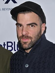 Zachary Quinto arrives at Jessie Tyler Ferguson's 'Tie The Knot' 5 Year Anniversary celebration held at NeueHouse Hollywood in Los Angeles, CA on Thursday, October 12, 2017. (Photo By Sthanlee B. Mirador/Sipa USA)