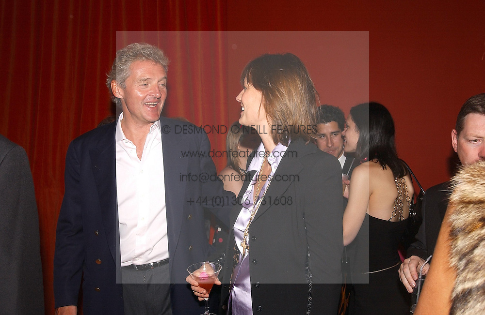COUNT LEOPOLD VON BISMARCK and his sister in law LADY RAYLEIGH  at a party hosted by jeweller Theo Fennell and Dominique Heriard Dubreuil of Remy Martin fine Champagne Cognac entitles 'Hot Ice' held at 35 Belgrave Square, London, W1 on 26th October 2004.<br /><br />NON EXCLUSIVE - WORLD RIGHTS