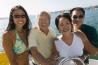 Family on sailboat (portrait)