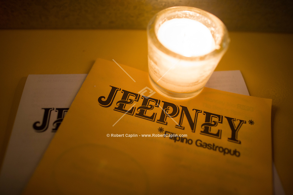 Jeepney, a Filipino restaurant in New York...Photo by Robert Caplin..