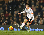 Fulham striker George Williams during the Sky Bet Championship match between Fulham and Brighton and Hove Albion at Craven Cottage, London, England on 29 December 2014.