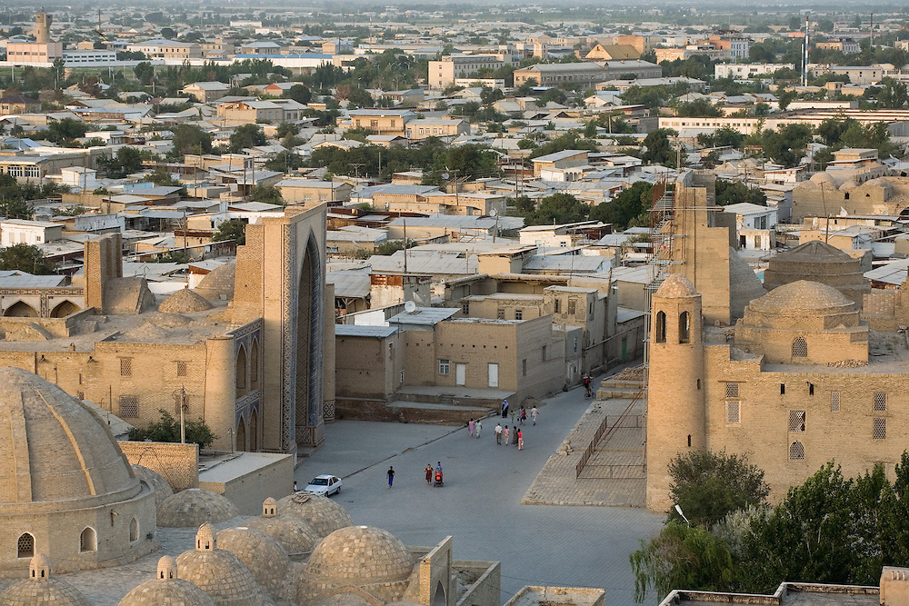 View over Bukhara from Kalon Minaret