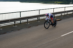 Emma Pooley (Great Britain) at Thüringen Rundfarht 2016 - Stage 4 a 19km time trial starting and finishing in Zeulenroda Triebes, Germany on 18th July 2016.