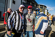 NFL fans outside Twickenham during the International Series match between Arizona Cardinals and Los Angeles Rams at Twickenham, Richmond, United Kingdom on 22 October 2017. Photo by Jason Brown.