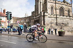 Lucinda Brand (NED) of Team Sunweb rides past the Castle Hill Baptist Church in Warwick during Stage 3 of the OVO Energy Women's Tour - a 151 km road race, between Atherstone and Royal Leamington Spa on June 9, 2017, in Warwickshire, United Kingdom. (Photo by Balint Hamvas/Velofocus.com)