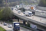 DEU, Germany, North Rhine-Westphalia, Wuppertal, the Autobahn A 46 at the motorway interchange Sonnborner Kreuz.....DEU, Deutschland, Nordrhein-Westfalen, Wuppertal, die Autobahn A 46 am Sonnborner Kreuz.