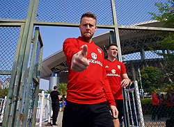 NANNING, CHINA - Wednesday, March 21, 2018: Wales' Chris Gunter during a training session at the Guangxi Sports Centre ahead of the opening 2018 Gree China Cup International Football Championship match against China. (Pic by David Rawcliffe/Propaganda)