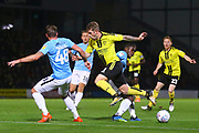 Burton Albion midfielder David Templeton (11) run is halted by the Southend defence during the EFL Sky Bet League 1 match between Burton Albion and Southend United at the Pirelli Stadium, Burton upon Trent, England on 2 October 2018.
