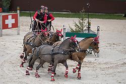 Voutaz Jerome, SUI, Belle du Peupe, Eva III, Leny, Petit Coeur Fly<br /> FEI World Cup Driving<br /> CHI de Genève 2016<br /> © Hippo Foto - Dirk Caremans<br /> 11/12/2016