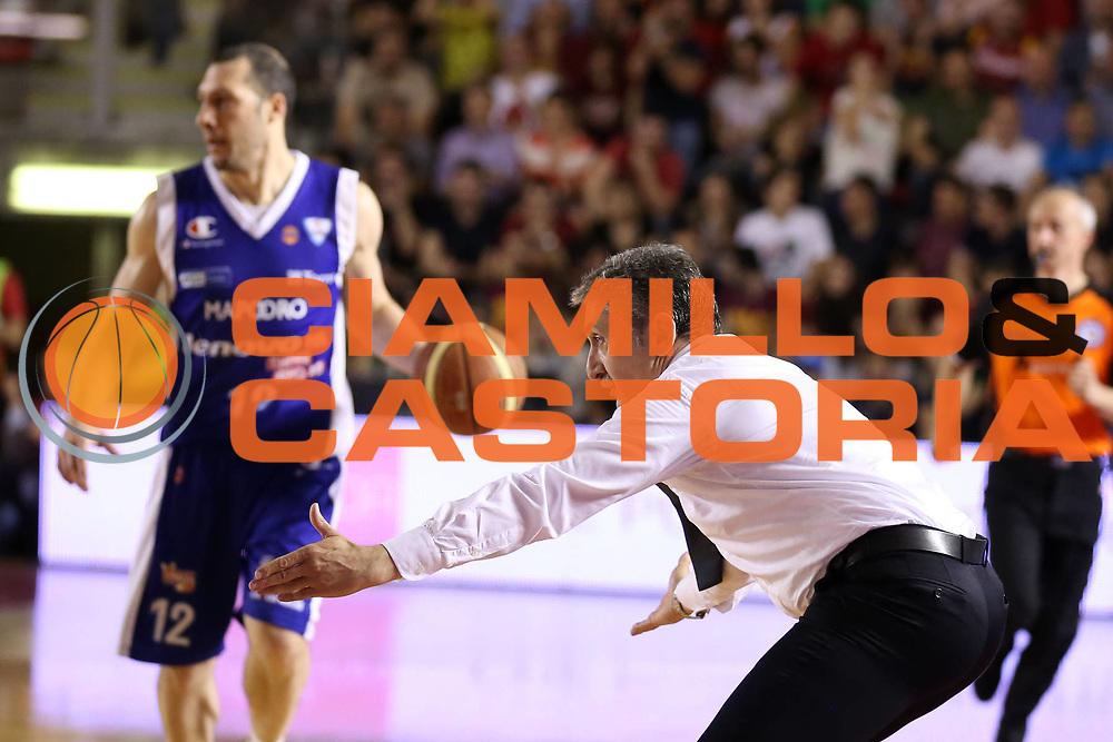 DESCRIZIONE : Roma Lega A 2012-2013 Acea Roma Lenovo Cantu playoff semifinale gara 7<br /> GIOCATORE : Marco Calvani<br /> CATEGORIA : coach<br /> SQUADRA : Acea Roma<br /> EVENTO : Campionato Lega A 2012-2013 playoff semifinale gara 7<br /> GARA : Acea Roma Lenovo Cantu<br /> DATA : 06/06/2013<br /> SPORT : Pallacanestro <br /> AUTORE : Agenzia Ciamillo-Castoria/ElioCastoria<br /> Galleria : Lega Basket A 2012-2013  <br /> Fotonotizia : Roma Lega A 2012-2013 Acea Roma Lenovo Cantu playoff semifinale gara 7<br /> Predefinita :