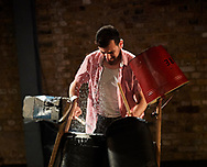 5th July  2017. Ahmed Tobasi performs in &quot;And Here I Am&quot; at the Arcola Theatre. London. <br /> Written by Hassan Abdulrazzak