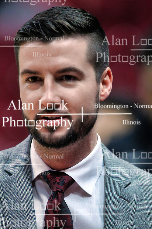 NORMAL, IL - January 05: Brendan Mullins during a college basketball game between the ISU Redbirds and the University of Evansville Purple Aces on January 05 2019 at Redbird Arena in Normal, IL. (Photo by Alan Look)
