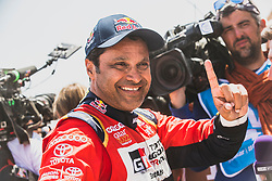 Nasser Al-Attiyah (QAT) of Toyota Gazoo Racing SA at the finish line after the last stage of Rally Dakar 2019 from Pisco to Lima, Peru on January 17, 2019. // Flavien Duhamel/Red Bull Content Pool // AP-1Y5HCEXCS2111 // Usage for editorial use only // Please go to www.redbullcontentpool.com for further information. //