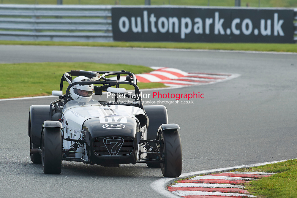 #117 Matt SPARK Caterham Supersports during CNC Heads Sports/Saloon Championship - Race 2  as part of the BARC Championships Race Day at Oulton Park, Little Budworth, Cheshire, United Kingdom. October 03 2015. World Copyright Taylor/PSP. Copy of publication required for printed pictures.  Every used picture is fee-liable. http://archive.petertaylor-photographic.co.uk