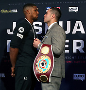 Anthony Joshua v Joseph Parker Press Conference - 27 March 2018