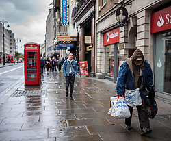 FILE IMAGE © Licensed to London News Pictures. 21/10/2019. London, UK. Homeless man walks down the Strand. Pictures highlight the reality of homelessness in Westminster taken during the build up of Brexit and the General election just a few hundreds yards from Parliament and Downing Street. Photo credit: Alex Lentati/LNP