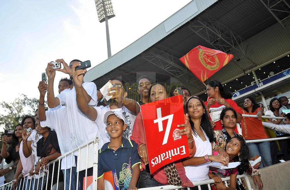 DURBAN, SOUTH AFRICA - 1 Mayl 2009. Spectators during the IPL Season 2 match between Kings X1 Punjab and the Royal Challengers Bangalore held at Sahara Stadium Kingsmead, Durban, South Africa..