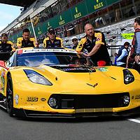 #63, Corvette Racing-GM, Chevrolet Corvette C7.R, LMGTE Pro, driven by: Jan Magnussen, Antonio Garcia, Mike Rockenfeller, 24 Heures Du Mans  2018,  Test, 02/06/2018,