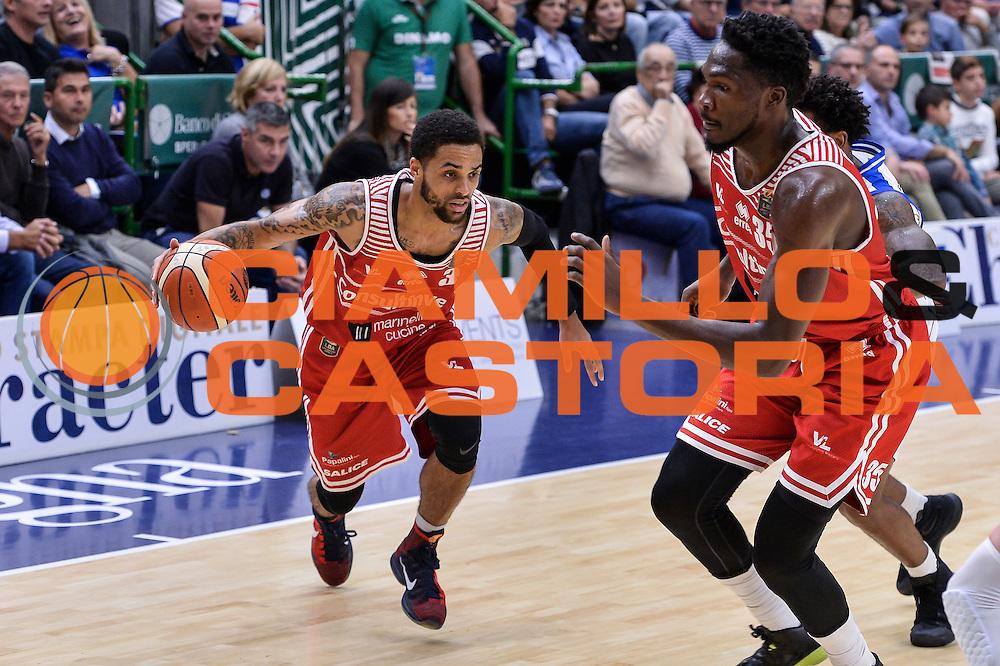 Brandon Fields<br /> Dinamo Banco di Sardegna Sassari - Consultinvest Victoria Libertas Pesaro<br /> Lega Basket Seire A 2016/2017<br /> Sassari 30/10/2016<br /> Foto Ciamillo-Castoria