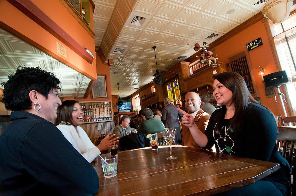 The Northland Pub in The Landmark Inn an historic hotel in Marquette Michigan.