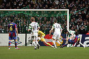 Lionel Messi scores the winner. Celtic v Barcelona, Uefa Champions League, Knockout phase, Celtic Park, Glasgow, Scotland. 20th February 2008.