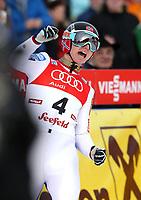 Kombinert<br /> FIS World Cup<br /> Seefeld Østerrike<br /> 18.01.2014<br /> Foto: Gepa/Digitalsport<br /> NORWAY ONLY<br /> <br /> FIS Weltcup, Nordic Triple. Bild zeigt den Jubel von Håvard Klemetsen (NOR).