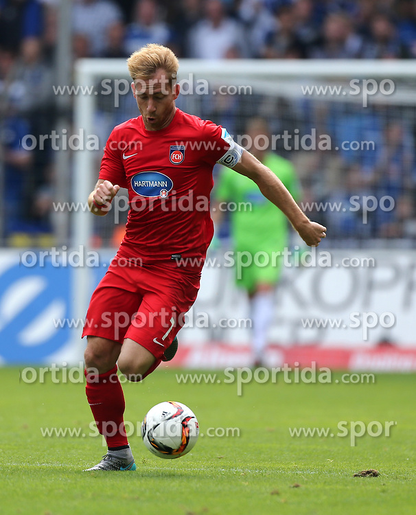 12.09.2015, Schueco Arena, Bielefeld, GER, 2. FBL, DSC Arminia Bielefeld vs 1. FC Heidenheim, 6. Runde, im Bild Marc Schnatterer (Heidenheim) mit Ball // during the 2nd German Bundesliga 6th round match between DSC Arminia Bielefeld and 1. FC Heidenheim at the Schueco Arena in Bielefeld, Germany on 2015/09/12. EXPA Pictures &copy; 2015, PhotoCredit: EXPA/ Eibner-Pressefoto/ Hommes<br /> <br /> *****ATTENTION - OUT of GER*****