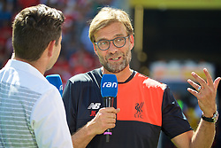 MAINZ, GERMANY - Sunday, August 7, 2016: Liverpool's manager Jürgen Klopp before a pre-season friendly match against his former club FSV Mainz 05 at the Opel Arena. (Pic by David Rawcliffe/Propaganda)