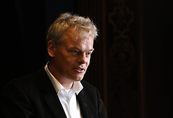 Professor Edvard Moser at The Royal Society in London speaking at a press conference previewing the Starmus science and arts festival taking place in Norway next month.