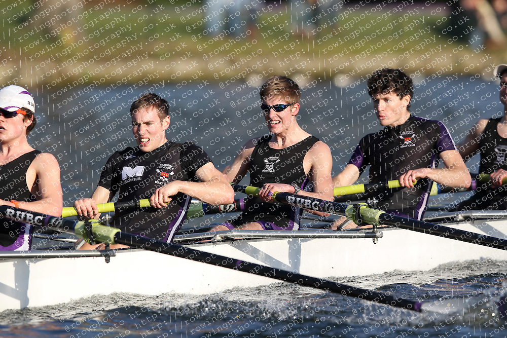 2012.02.25 Reading University Head 2012. The River Thames. Division 2. Reading University Boat Club A IM2 8+