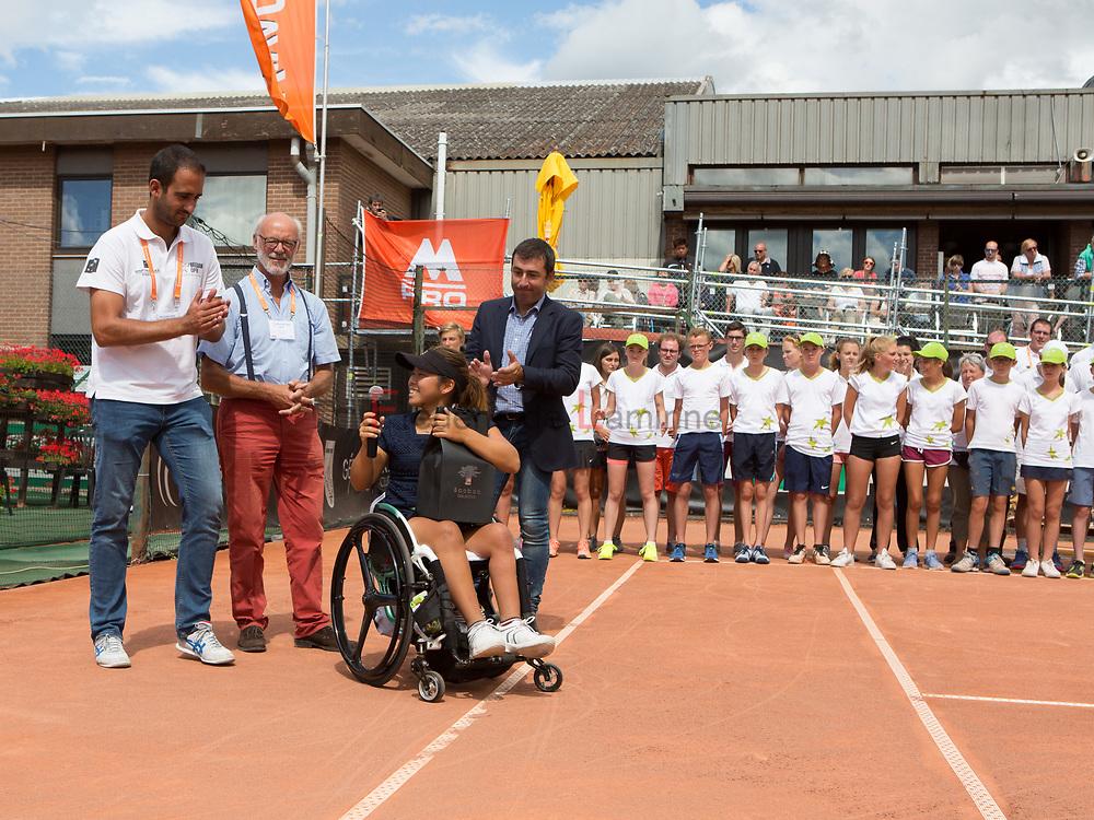 20170730 - Namur, Belgium :  Yui Kamiji (JPN) wins the women single during the 30th Belgian Open Wheelchair tennis tournament on 30/07/2017 in Namur (TC Géronsart). © Frédéric de Laminne