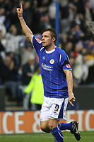 Photo: Pete Lorence.<br />Leicester City v Coventry City. Coca Cola Championship. 17/02/2007.<br />Geoff Horsfield celebrates scoring the third goal of the match.