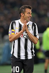 20.05.2012, Stadio Olympico, Rom, ITA, TIM Cup, Juventus Turin vs SSC Neapel, Finale, im Bild Alessandro Del Piero Juventus // during the final football match of Italian TIM Cup between Juventus Turin and SSC Neapel at Stadio Olympico, Rome, Italy on 2012/05/20. EXPA Pictures © 2012, PhotoCredit: EXPA/ Insidefoto/ Paolo Nucci..***** ATTENTION - for AUT, SLO, CRO, SRB, SUI and SWE only *****