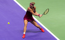 October 26, 2018 - Kallang, SINGAPORE - Kiki Bertens of the Netherlands in action during her third match at the 2018 WTA Finals tennis tournament (Credit Image: © AFP7 via ZUMA Wire)