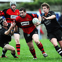 Michael McNamara in action during the Ennis V Cobh Rugby match in Ennis on Saturday .<br /> Photograph by Eamon Ward