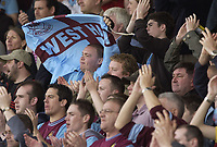 Fotball<br /> England 2004/2005<br /> Foto: SBI/Digitalsport<br /> NORWAY ONLY<br /> <br /> Watford v West Ham United Coca-Cola Championship.<br /> <br /> West Ham fans cheer their team at the end of the game.