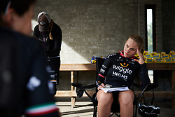 Julie Leth (DEN) struggles to comprehend how Longo Borghini doesn't like Christmas at Ladies Tour of Norway 2018 Stage 3. A 154 km road race from Svinesund to Halden, Norway on August 19, 2018. Photo by Sean Robinson/velofocus.com