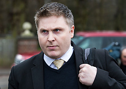 © Licensed to London News Pictures. 02/03/2016. Ampthill, UK. Conservative aide ANDRE WALKER leaves  a pre-inquest review into the death of Conservative party activist Elliott Johnson in Ampthill, Bedfordshire. Mr Johnson was found dead on a railway line in Bedfordshire a few weeks after he raised concerns about the way he had been treated in the Conservative youth wing. Photo credit: Peter Macdiarmid/LNP