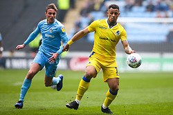 Jonson Clarke-Harris of Bristol Rovers goes past Tom Davies of Coventry City - Mandatory by-line: Robbie Stephenson/JMP - 07/04/2019 - FOOTBALL - Ricoh Arena - Coventry, England - Coventry City v Bristol Rovers - Sky Bet League One