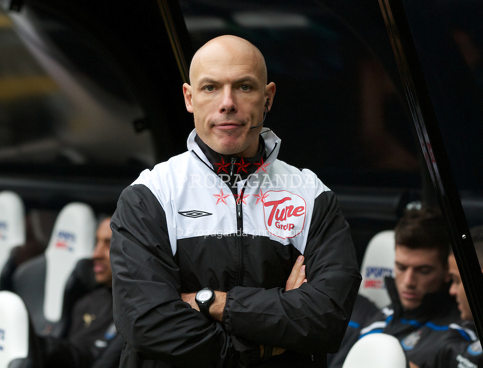 NEWCASTLE-UPON-TYNE, ENGLAND - Saturday, November 5, 2011: Fourth official Howard Webb before the Premiership between Newcastle United and Everton. (Pic by Vegard Grott/Propaganda)